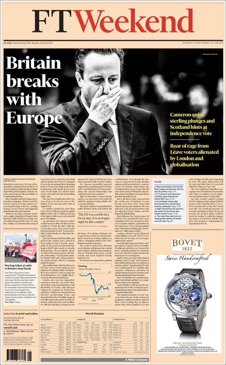 Portada de Financial Times (United Kingdom) Financial
