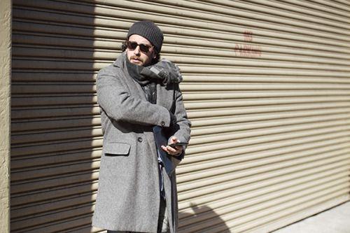 http://chicerman.com  billy-george:  Sweet coat! ew York Fashion Week Photo by Liam Goslett  #streetstyleformen