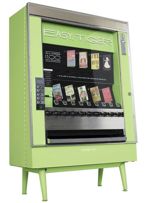 Easy Tiger S Greeting Cards Vending Machine Awesome With