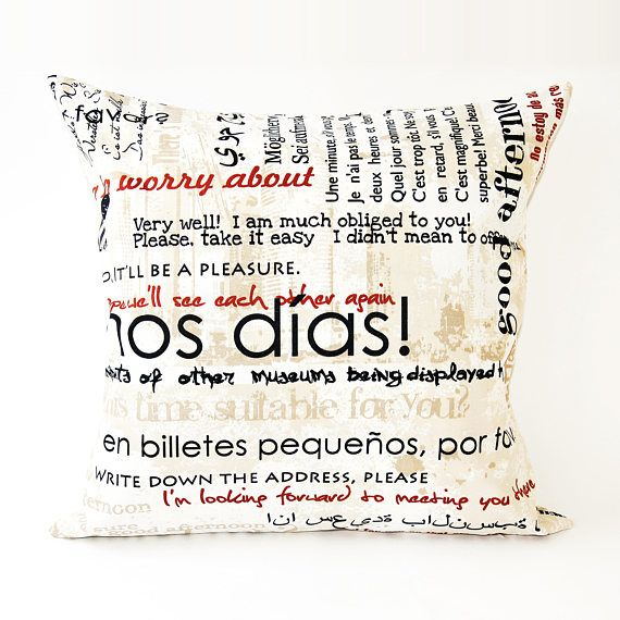 Creative Decorative Pillow Of Raincoat Material With A Print Amazing Washing Decorative Pillows