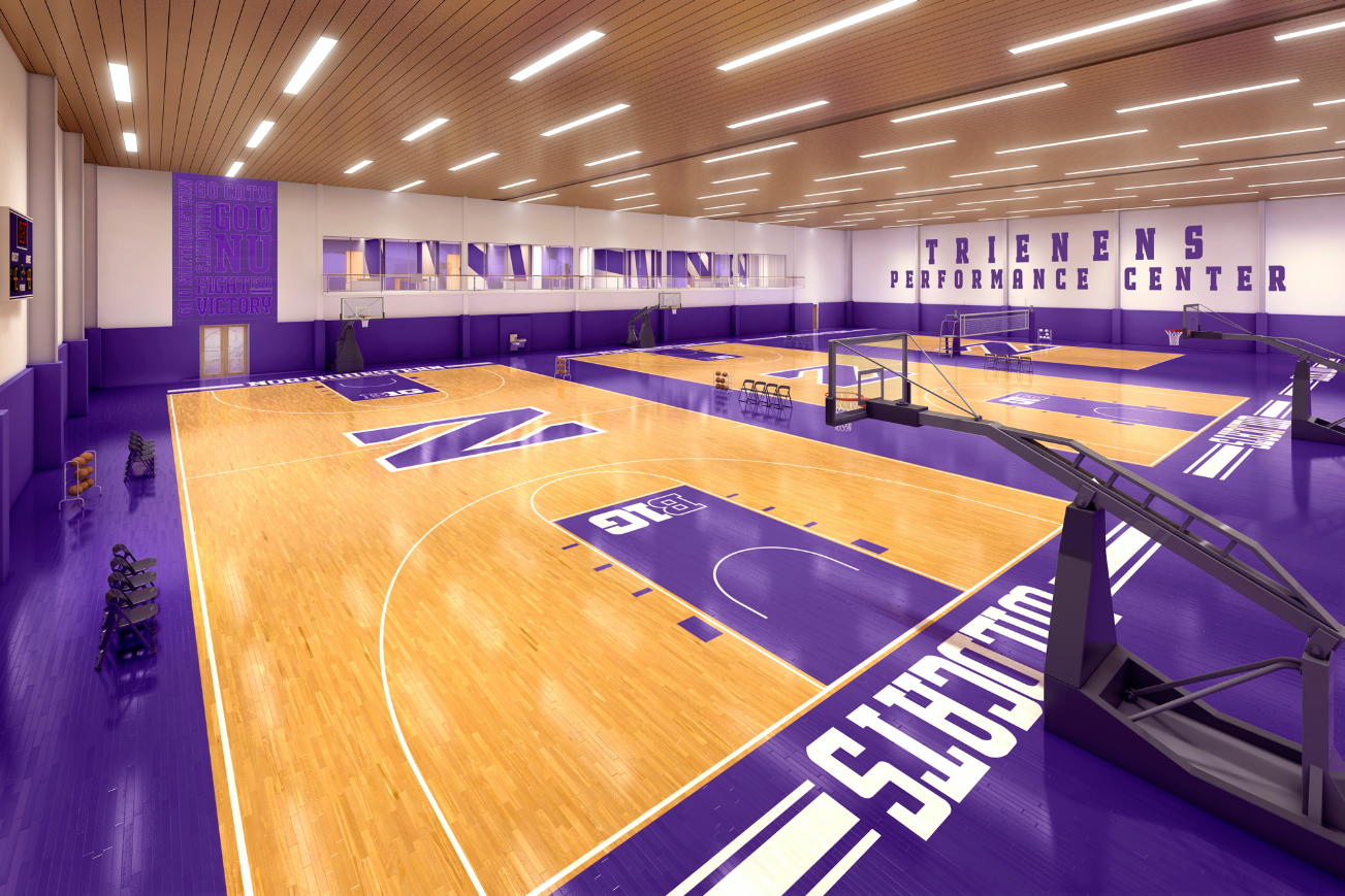 The School Will Redevelop Its Indoor Football Practice Facility Next To Welsh Ryan Arena Into A State Of The Art Basketball Training Basketball Training Center