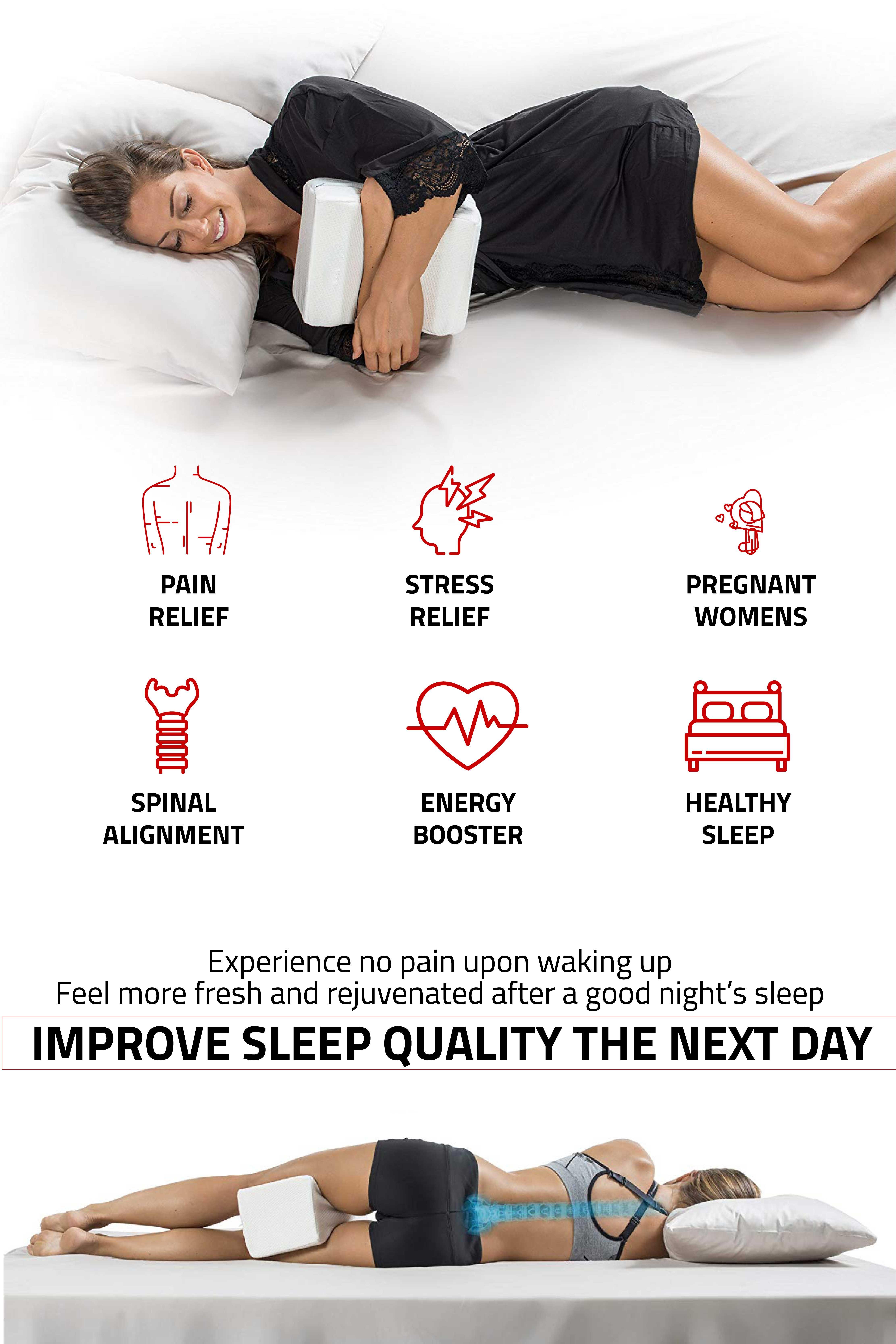 Pin On Leg Pillow For Back Pain Under Knees Better Sleep