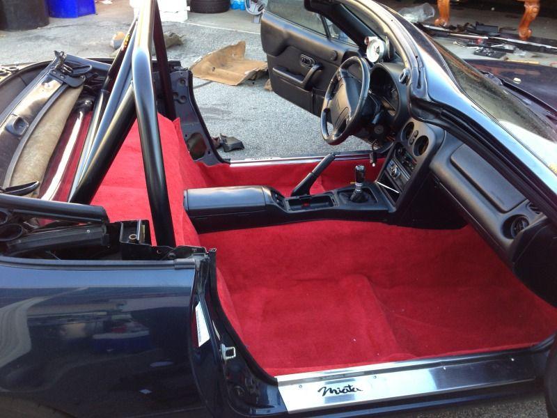 Na Miata Black Interior Red Carpet By Eliteskill Mazda