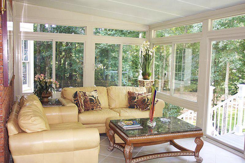 rustic indoor sun room furniture ideas | Betterliving Sunrooms, Patio Rooms | Sunroom furniture ...