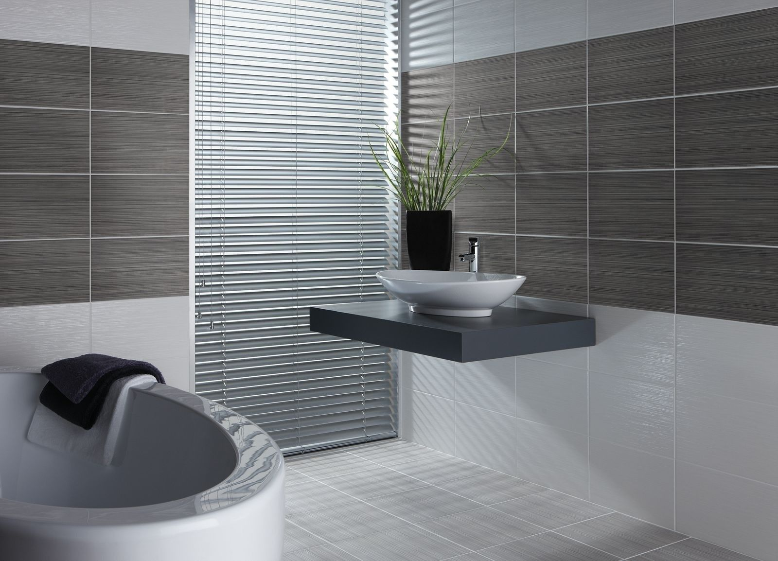striped grey tile and bathroom grout update business review business. beautiful ideas. Home Design Ideas