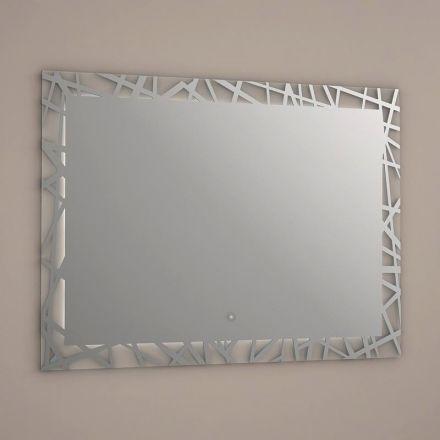 miroir lumineux led salle de bain anti bu e 80x60 cm idlight zen miroir lumineux anti bu e. Black Bedroom Furniture Sets. Home Design Ideas