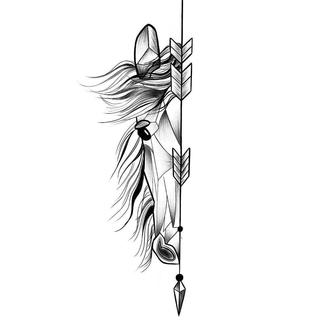 Small Acid Tattoo: Wonderful Horse Tattoo Design For Men (15)