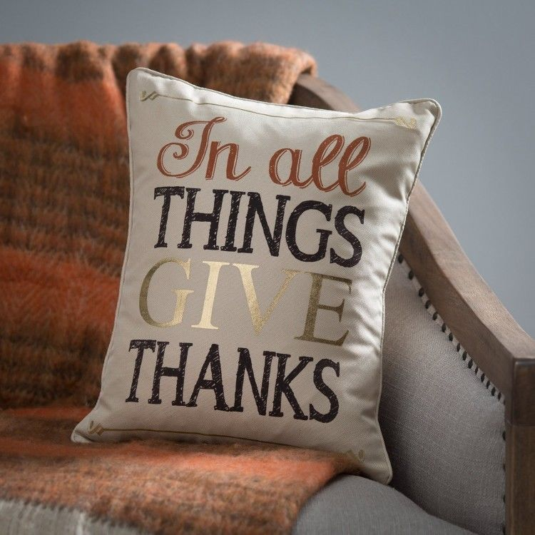 Fall Throw Pillows In All Things Give Thanks Pillow Fall Decor - Fall Saving…