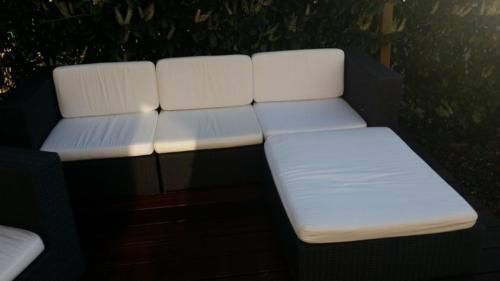 Polyrattan Lounge Terassen Set, guter Zustand, inkl Sitzpolster in
