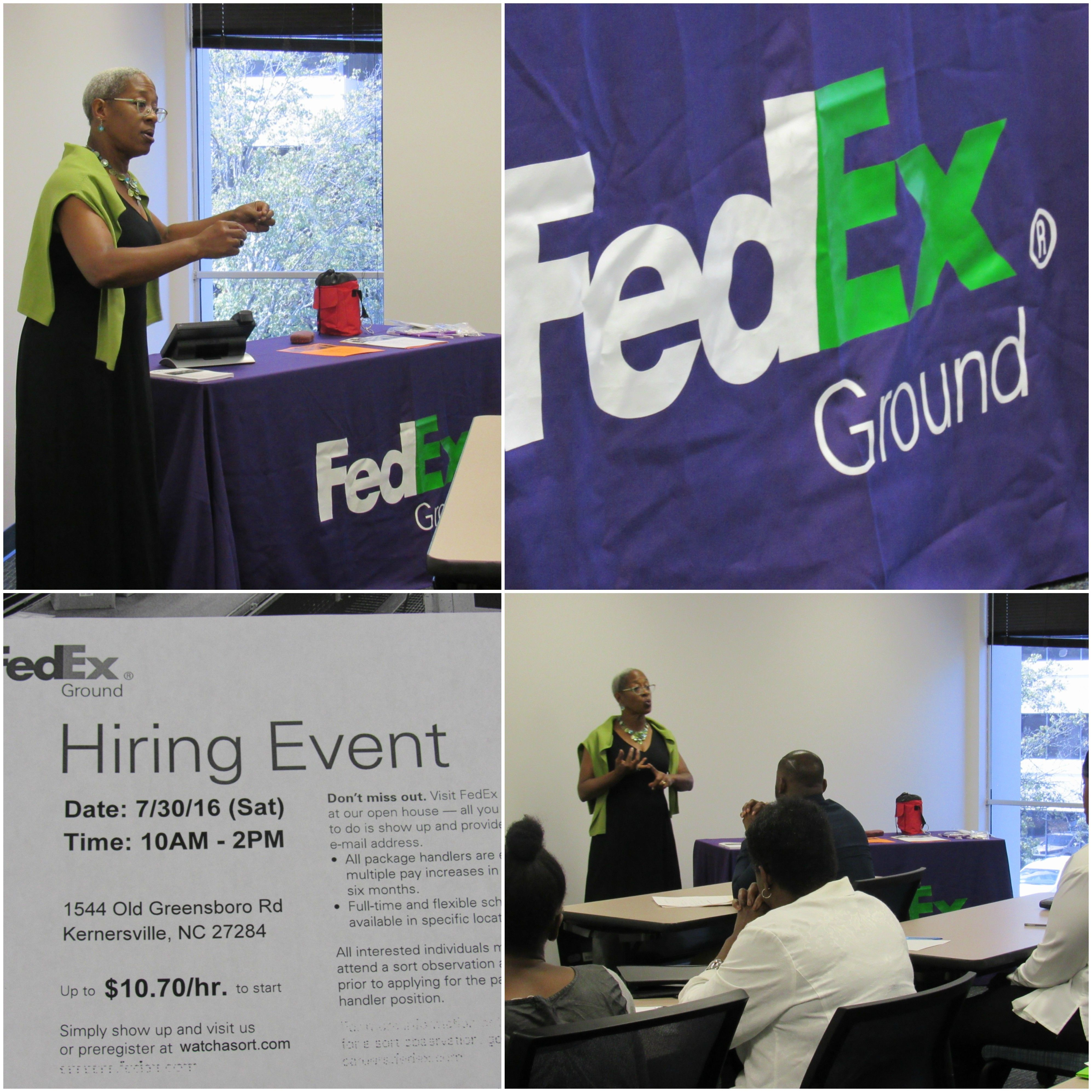 Ncworks Career Center Hosted A Hiring Event For Fedex Ground For