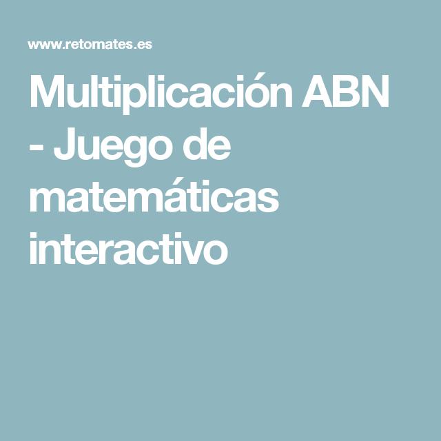 Multiplicación ABN - Juego de matemáticas interactivo