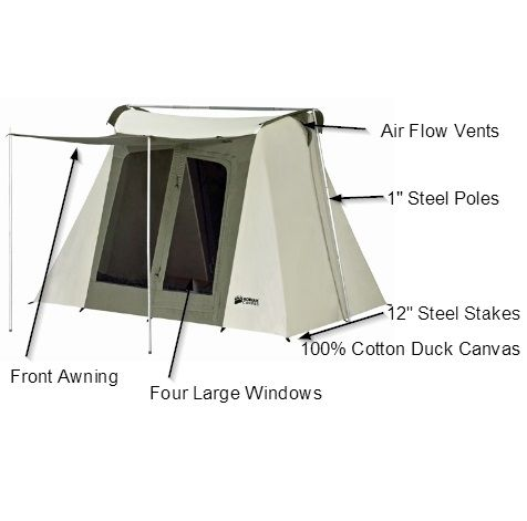 Kodiak Canvas Tent 6098 9x8 Flew Bow Special Offer Discounted Tarp Canvas Tent Kodiak Canvas Tent Storage