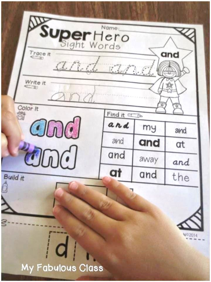 Sight Word Printable. 75 words - trace, write, color, and cut. Available in print and d'nealian