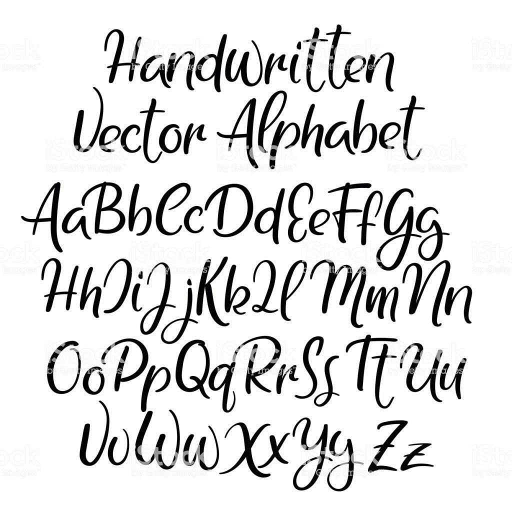 Modern calligraphy font. Handwritten brush letters. Uppercase,…