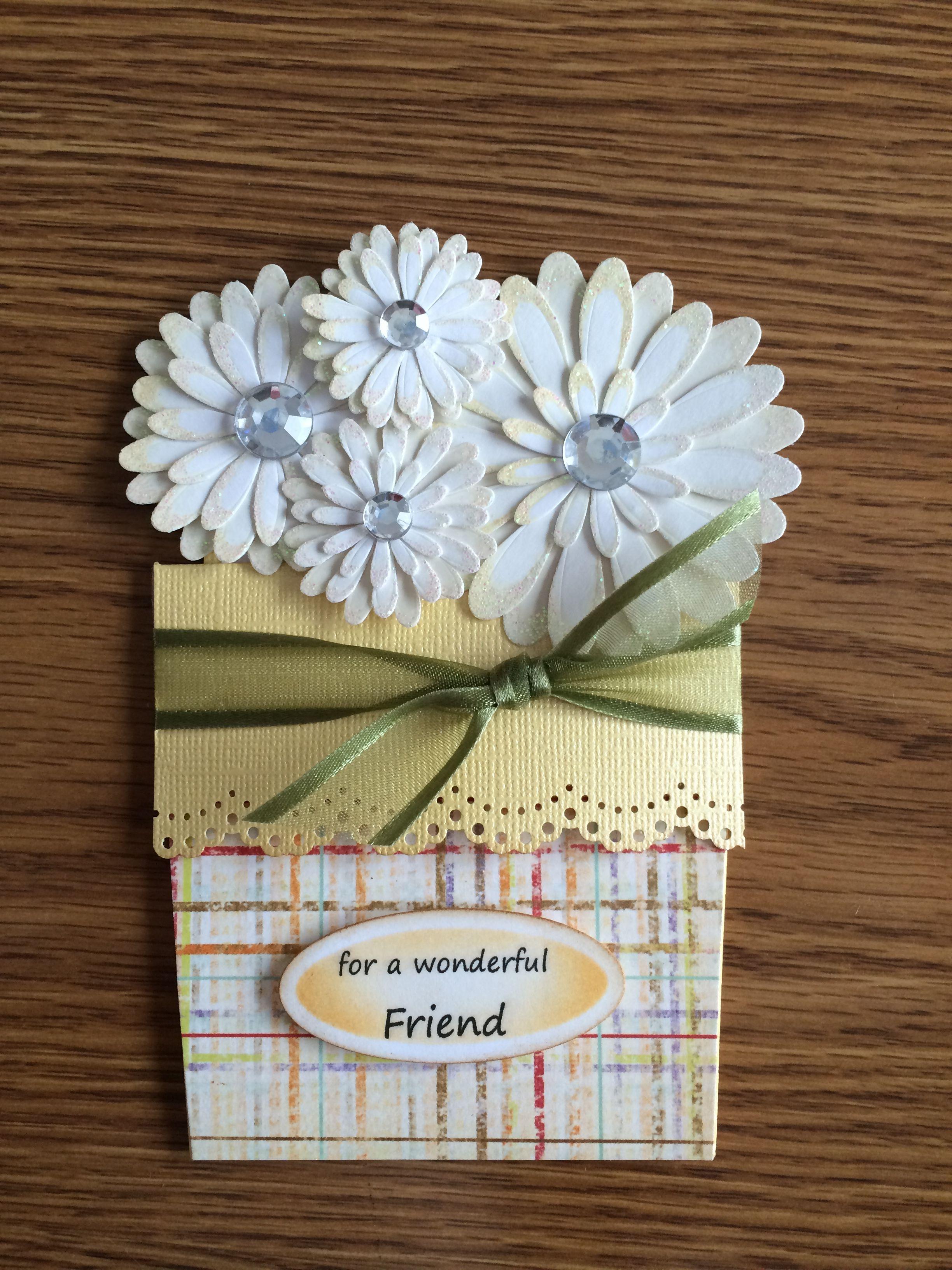 flower pot card for cheryl's birthday 2015  flower pots