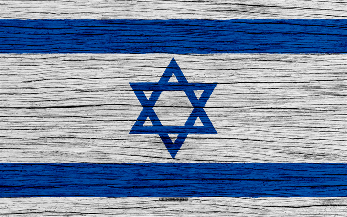 Download Wallpapers Flag Of Israel 4k Asia Wooden Texture