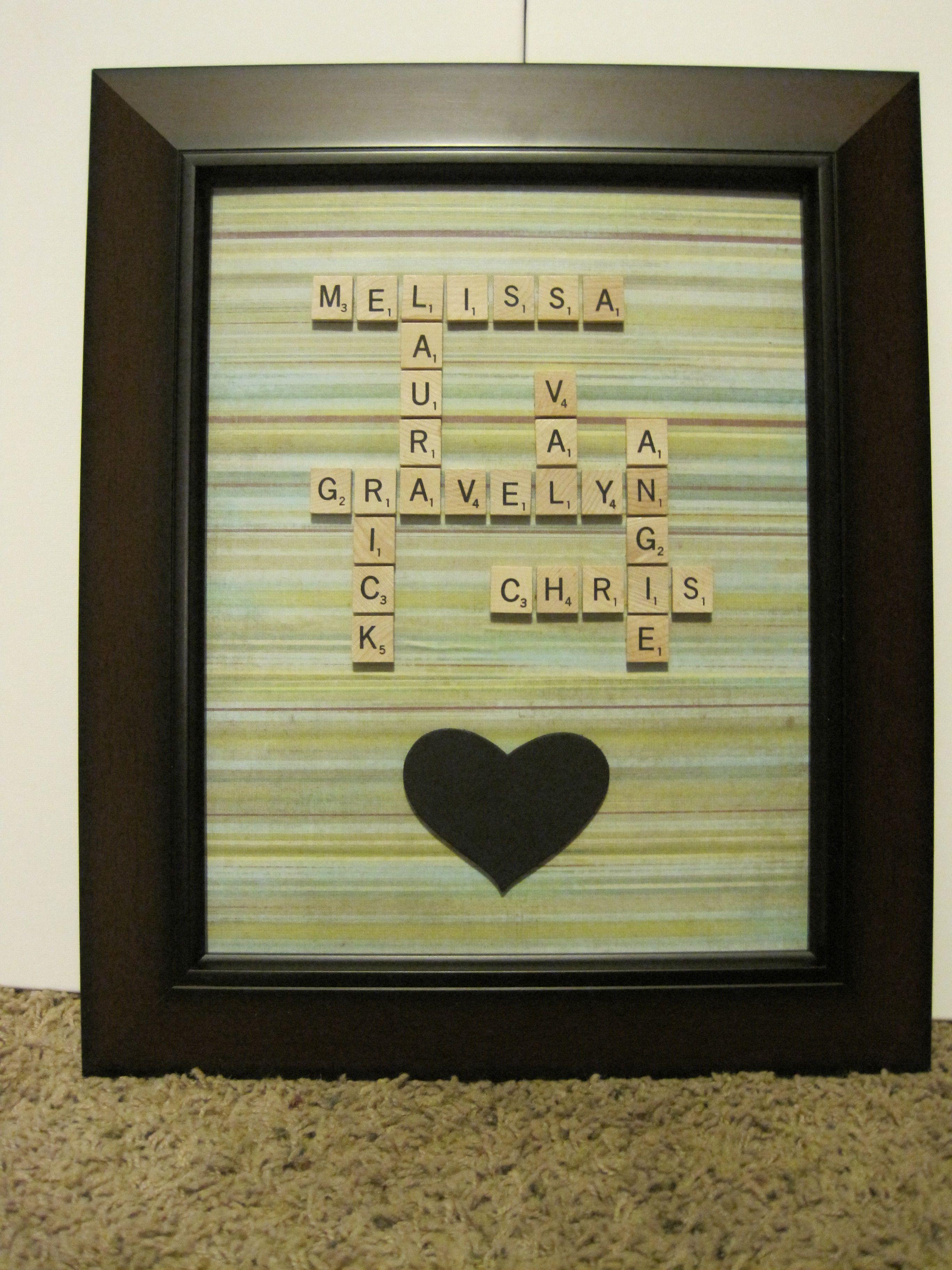 tableau lettres scrabble famille | Scrabble Tiles | Pinterest ...