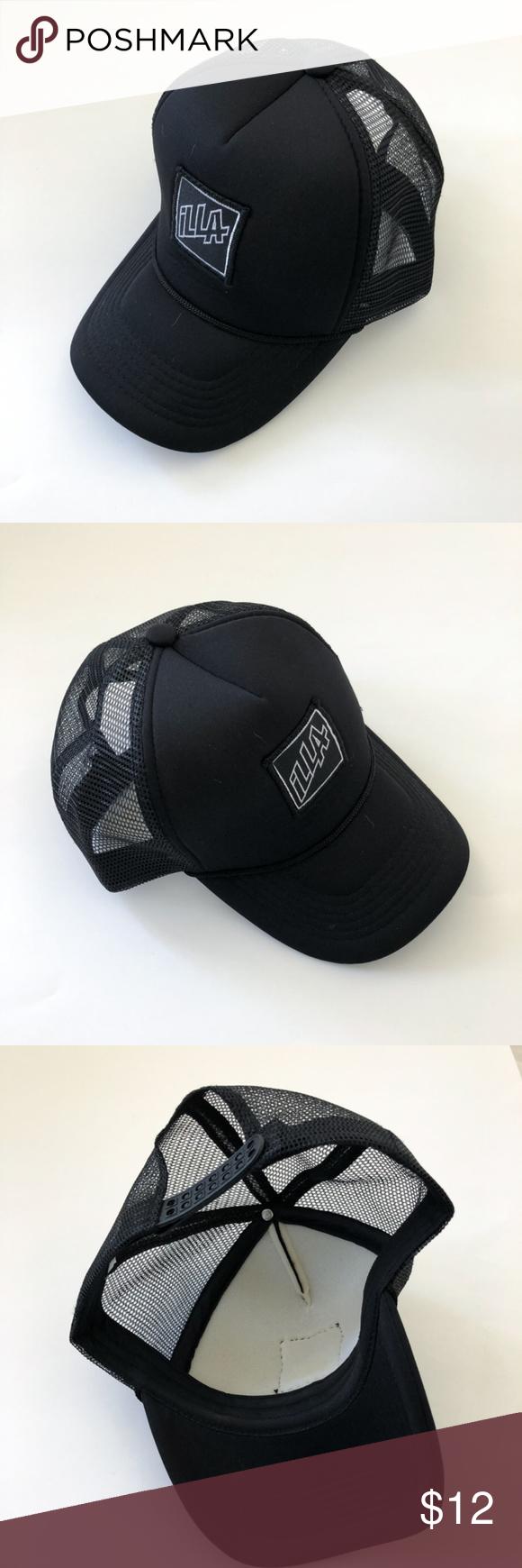 Illa Plain Black Trucker Hat New My Posh Closet Pinterest
