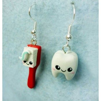 fotos oficiales f53f2 af2f9 toothbrush + tooth Kawaii,fimo, handmade,hecho a mano ...