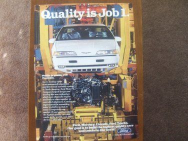 Classic Man Cave Jobs : Ford quality job classic vintage advertisement ad internet