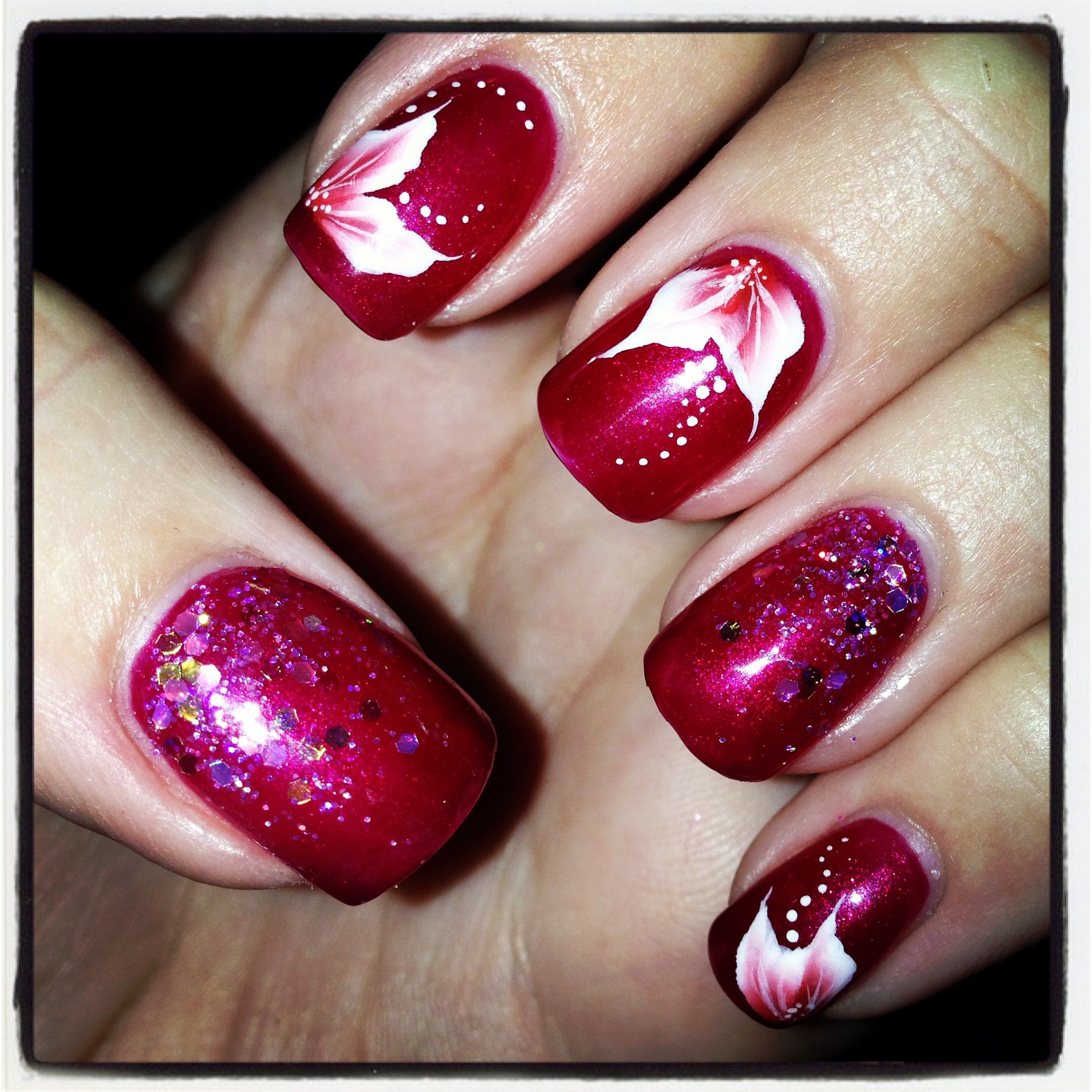 Jessica Christmas Nails: Passionate Kisses Jessica Geleration With One Stroke Nail