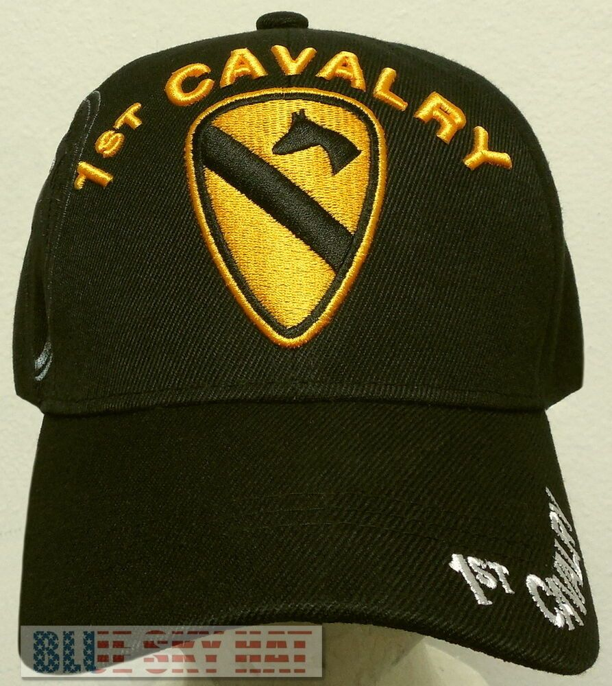 1st Cavalry Division The First Team U.S Army Division Embroidered Cap Hat