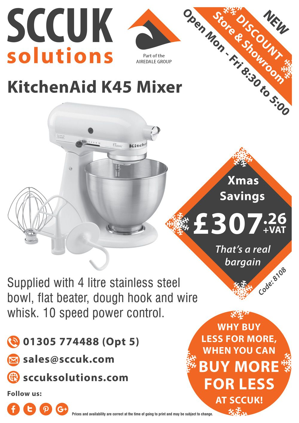 Check out this sccuk deal on the kitchenaid k45 mixer