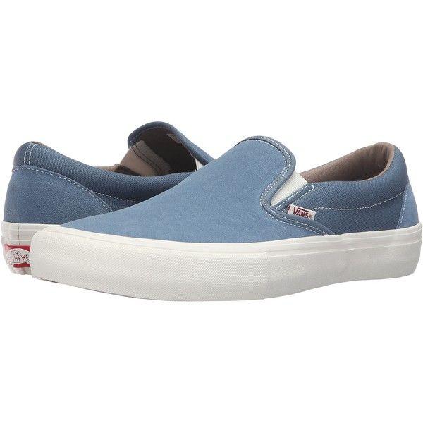 Vans Slip On Pro Blue Mirage Marshmallow Men S Skate Shoes 41 Liked On Polyvore Featuring Men S Fashion Men S S Slip On Shoes Vans Slip On Sneakers Men