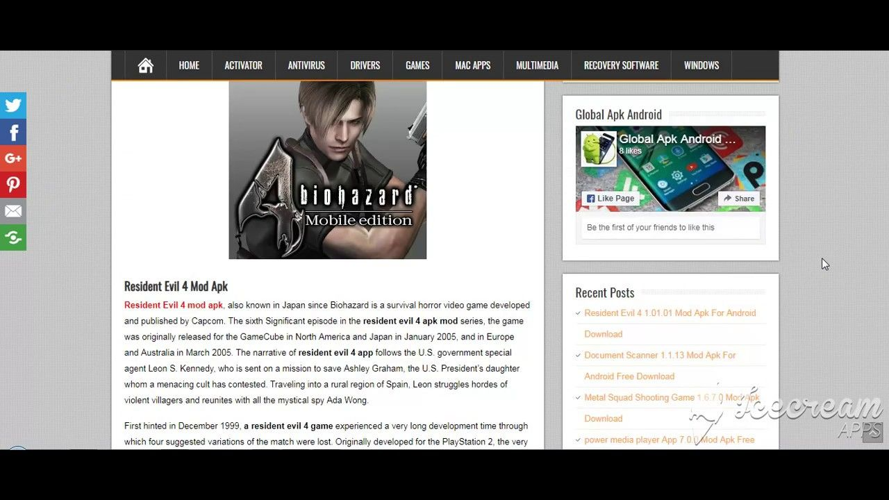 Resident Evil 4 1 01 01 Mod Apk For Android Download Resident Evil Evil Horror Video Games