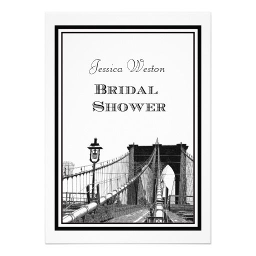 DealsNYC Skyline Brooklyn Bridge #2 DIY Bridal Showr Personalized Invitationswe are given they also recommend where is the best to buy
