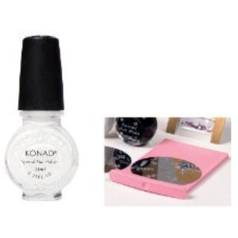Konad nail art versatile clear top coat nail polish image plate