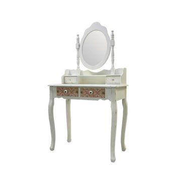 Schlafzimmer Schminktisch mit Spiegel Shabby Chic - Shop Landhaus - spiegel für schlafzimmer