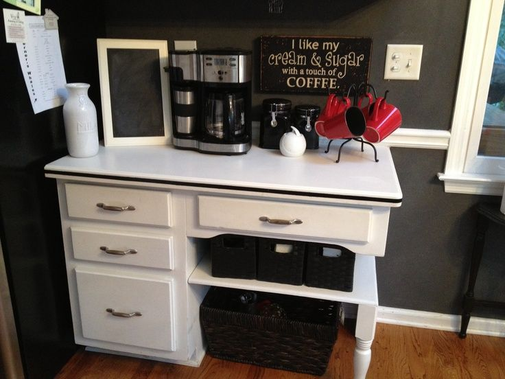 Coffee Bar Ideas For Your Kitchen.. Too Excited On Finding This Type Of Desk