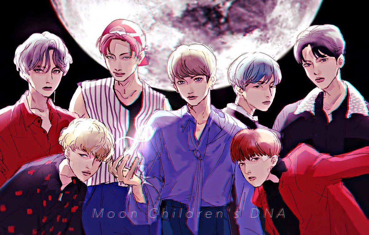 K Pop Bts Anime Wallpapers En 2020 Dessin Anime Bts Dessin
