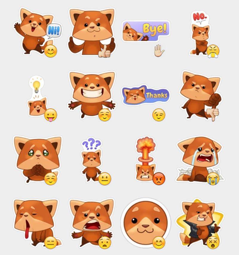 Freddie The Fox Stickers Set Telegram Stickers 1 In 2019