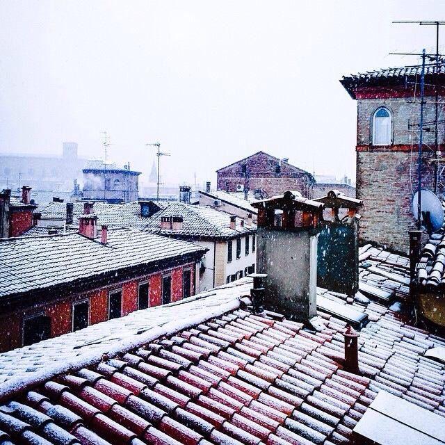 Prima neve a Bologna