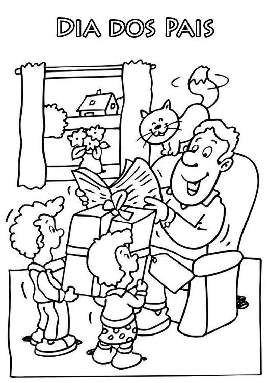 desenho dia dos pais para colorir 1