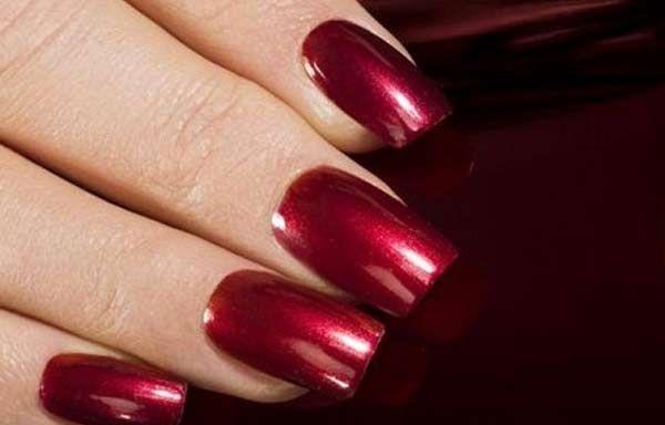 Uñas Decoradas Color Vino Tinto Vinotinto Clic Y Síguenos Elegant Nailsstylish