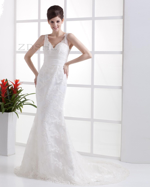 Lace mermaid wedding dress with cathedral train  Glamorous u Dramatic MediumLength Train Button Sashes Wedding Dress