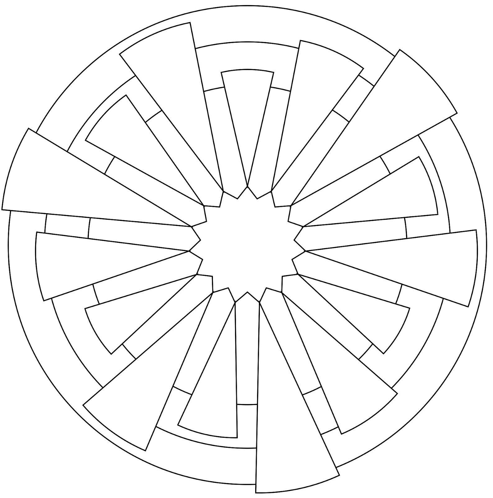 Susan Goetter Zendala Dare 24 Zentangle Patronen Zentangle Mandala Kleurplaten