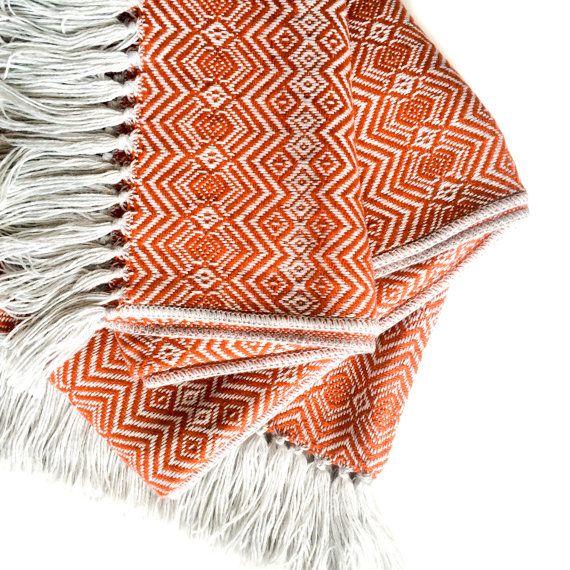 Alpaca Throw Blanket - Rust   Light Grey  28ea26d9e