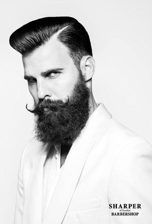 Pompadour Fp Pinterest Bigote, Estilos de barba y Barberia