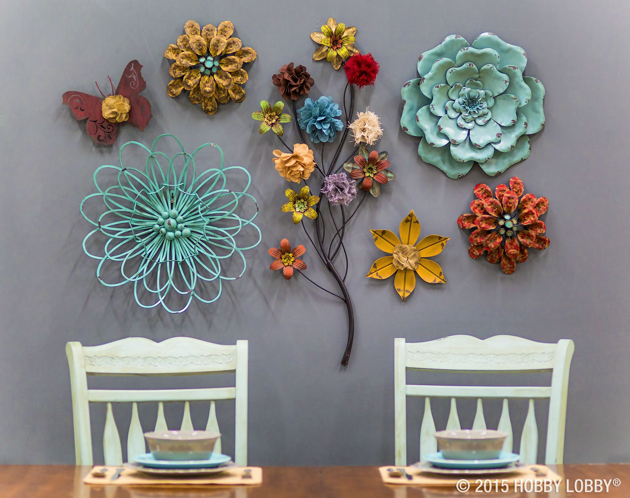How does our garden grow? With a beautiful array of blooms ... on Hobby Lobby Outdoor Wall Decor Metal id=26500