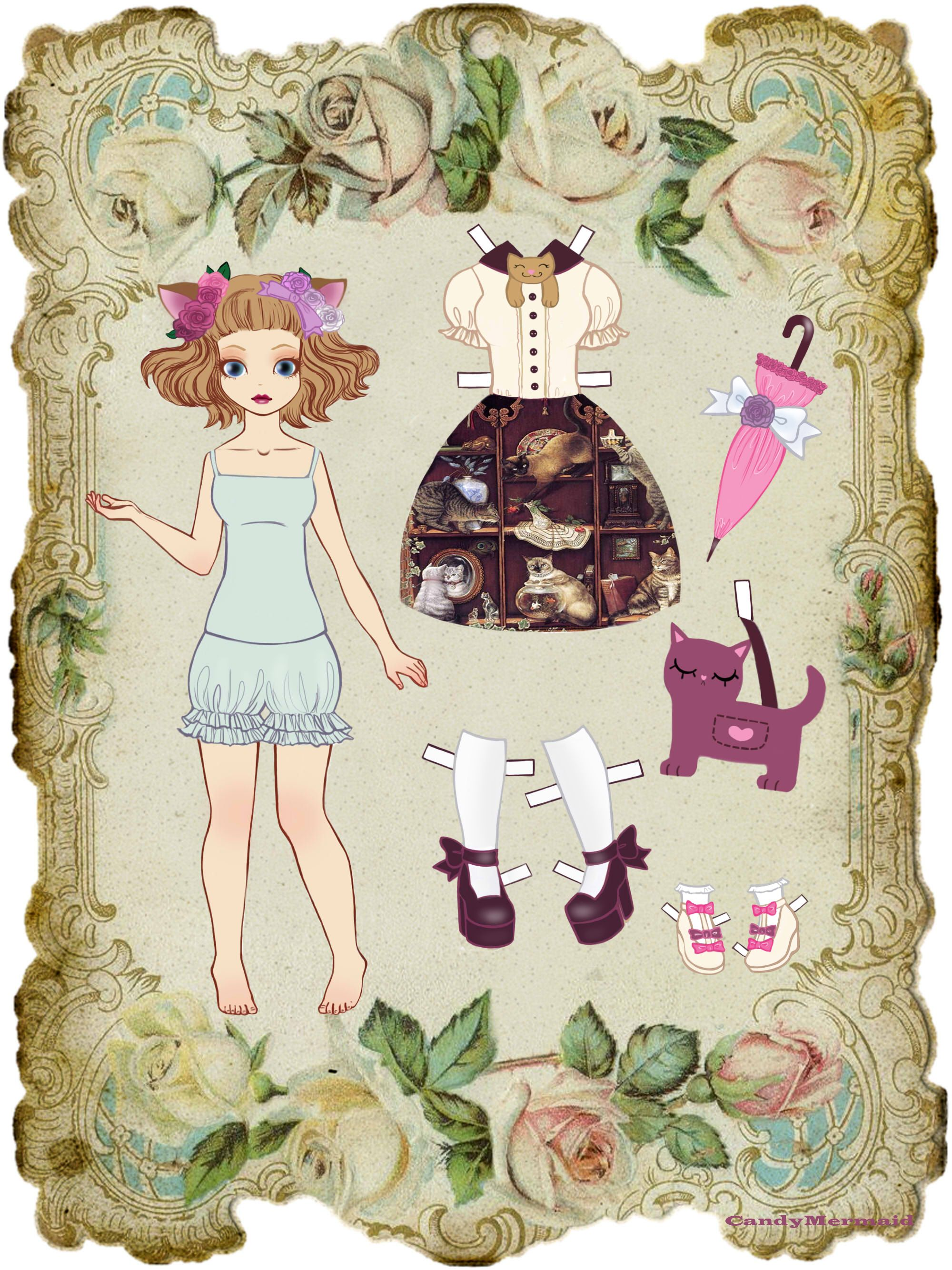 paper dolls - 736×981