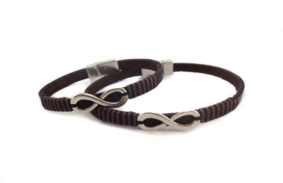 Couple Infinity Bracelet Leather Bracelet Infinity Couple