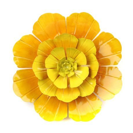 Yellow Flower Wall Art yellow flower ombre metal wall art | metal wall art, metal walls