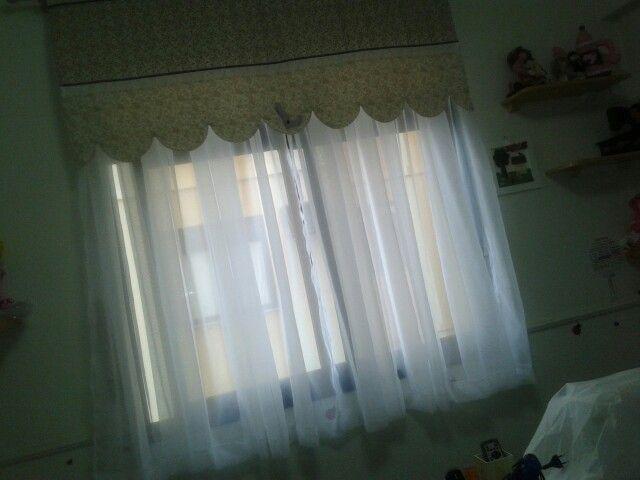 Minha cortina do atelie acabada