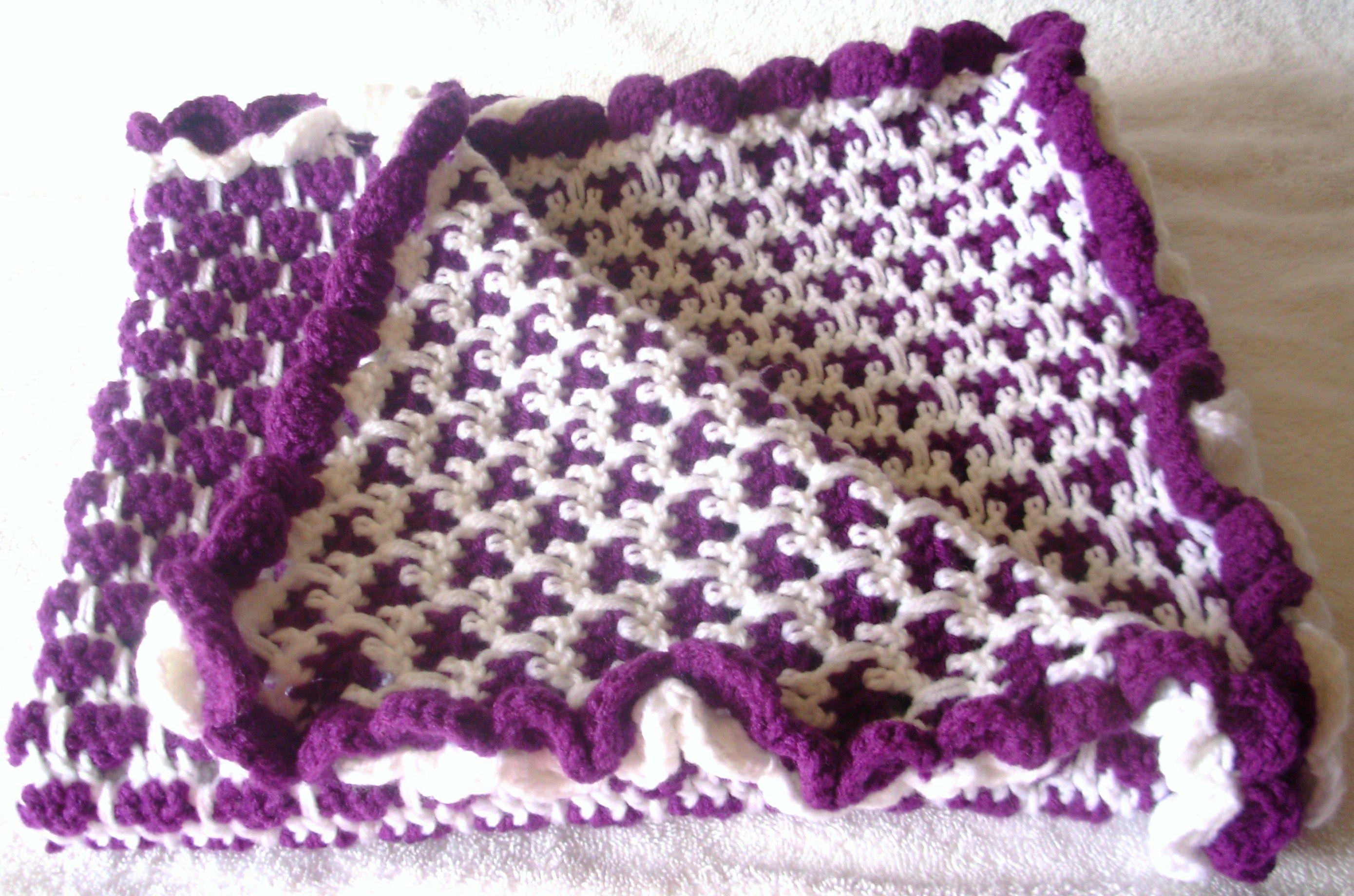 Crochet Purple Dream Baby Blanket -Larcksfoot Stitch crochet-mania ...