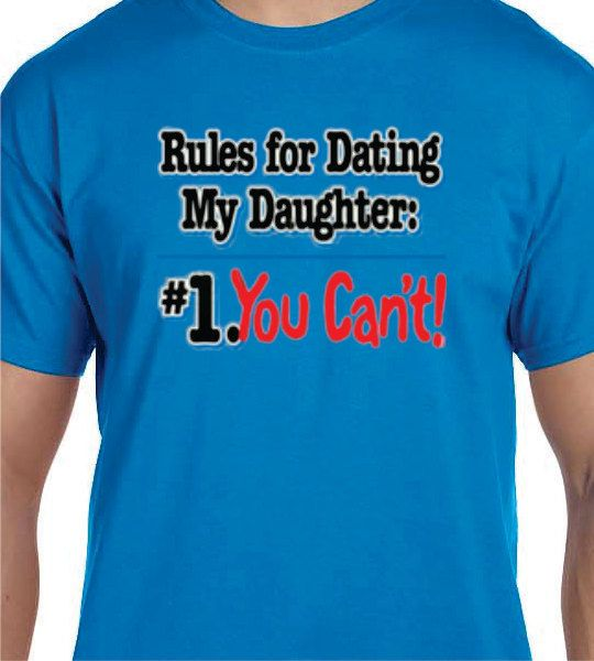 Dad Christmas Gifts From Daughter: Funny T Shirt For Him. Dad Will Warn The Boys To Stay Away