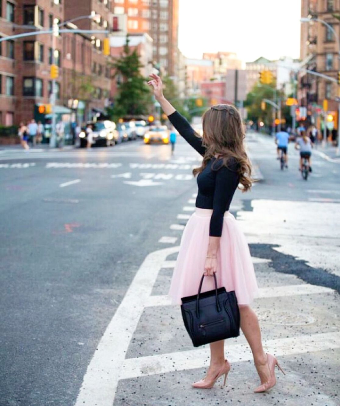 Carrie Bradshaw moment..  Ashley tulle skirt in ice pink by Bliss Tulle